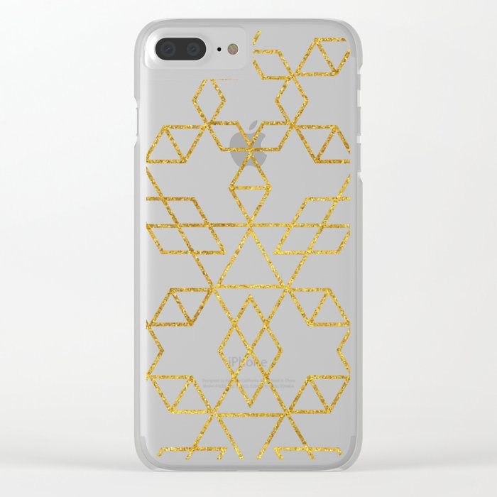 Art Deco Gold #society6 #decor #buyart Clear iPhone Case
