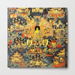 Mandala Buddhist 7 Metal Print