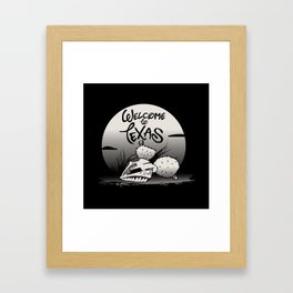 WELCOME TO TEXAS Framed Art Print