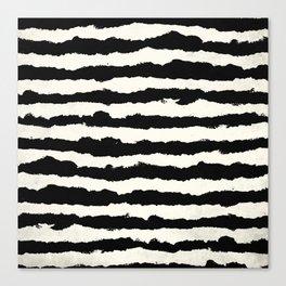 Horizontal Ivory Stripes Canvas Print