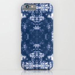 Shibori Tie Dye 2 Indigo Blue iPhone Case