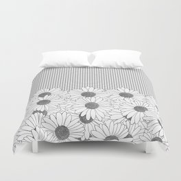 Daisy Grid Duvet Cover