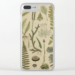 Ferns And Mosses Clear iPhone Case