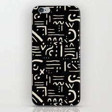 Heiroglyph in black iPhone & iPod Skin