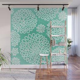 Peppermint Dandelions Wall Mural