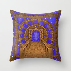orvio illuminated space mandala Throw Pillow