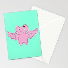 Pink Bat Stationery Cards