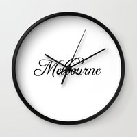 melbourne Wall Clocks featuring Melbourne by Blocks & Boroughs