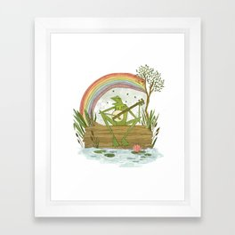 Rainbow Connection Framed Art Print