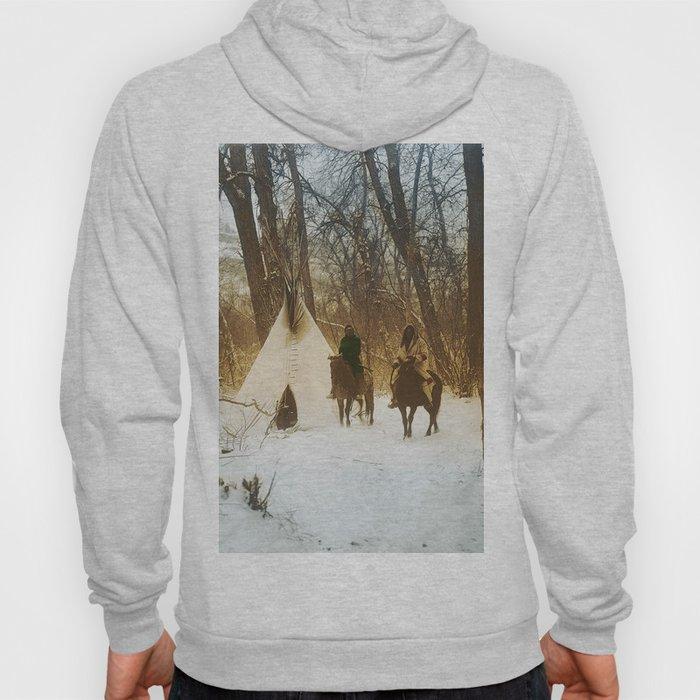 The winter camp - Crow (Apsaroke) Indians Hoody