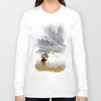 boat Long Sleeve T-shirts featuring Boat by Gouzelka