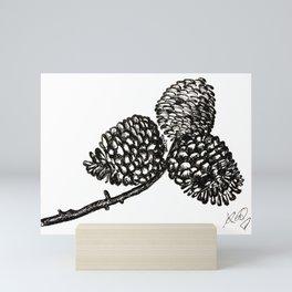 Pine Cone-Black & White Mini Art Print