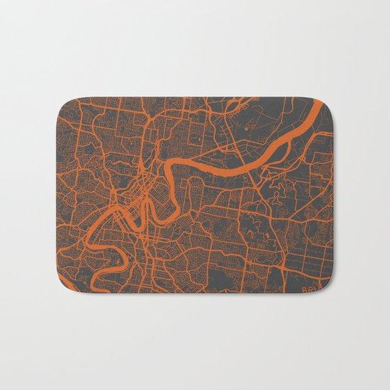 Brisbane Map Bath Mat