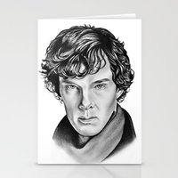 sherlock Stationery Cards featuring Sherlock by 13 Styx