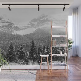 Landscape Photography Winter Wonderland   North Pole   Blizzard Forest Mountain Wall Mural