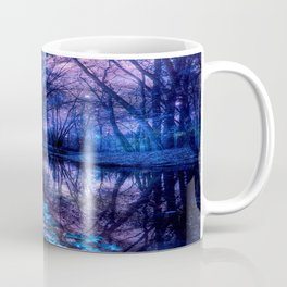 Enchanted Forest Lake Purple Blue Coffee Mug