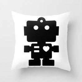 Cute Robot Throw Pillow