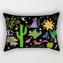 Arizona Sonoran desert at night Rectangular Pillow
