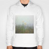 battlefield Hoodies featuring Yellow Wild Flowers, Agincourt Battlefield by Susan in Paris
