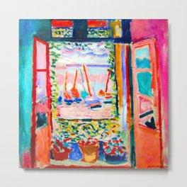 Henri Matisse Open Window Metal Print
