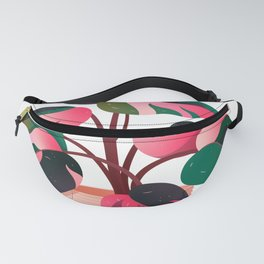 Philodendron Pink Princess PPP Aroid House Plant Lover Fanny Pack