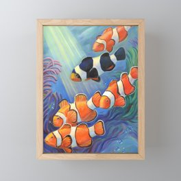 Clownfish Paradise Framed Mini Art Print