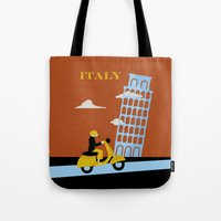 italy Tote Bags featuring Italy by Laurel Natale