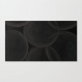 Black spiraled coils Canvas Print