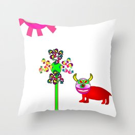 Rolf and the purple sun Throw Pillow