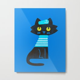 Fitz - Sailor cat Metal Print