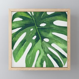 Monstera Leaf Framed Mini Art Print