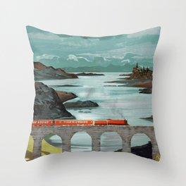 The Hogwarts Express Throw Pillow