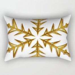 Minimalistic Golden Snowflake Rectangular Pillow