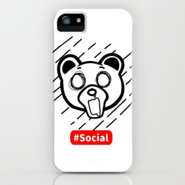 Kuma Bear Social Reality iPhone Case