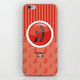 Red Writer's Mood iPhone Skin