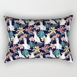 Cockatoo & Tropical Flora Rectangular Pillow