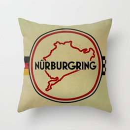 Nürburgring, the Green Hell Throw Pillow