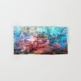 Challenging Fear Rumi Uplifting Quote With Beautiful Underwater Painting Hand & Bath Towel