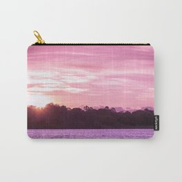 Beautiful Pink Beach and Sunset Carry-All Pouch