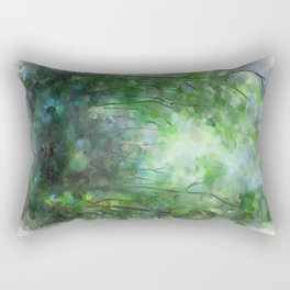 Watercolor forest Rectangular Pillow