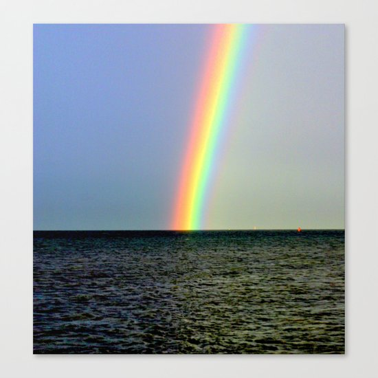Pot of gold over the Bay Canvas Print