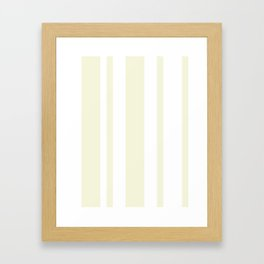 Mixed Vertical Stripes - White and Beige Framed Art Print