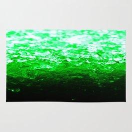Emerald Green Ombre Crystals Rug