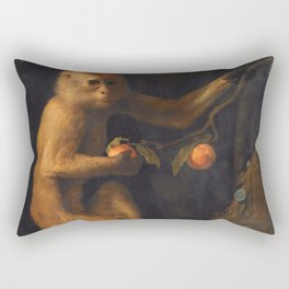 George Stubbs - A Monkey Rectangular Pillow