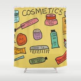 Cosmetics Shower Curtain