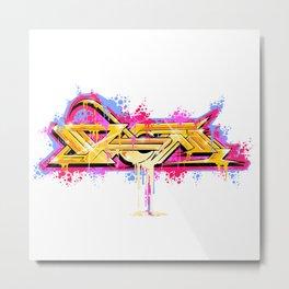 Splash of Graffiti Mash Metal Print