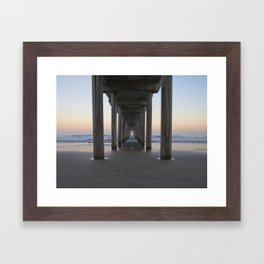 Scripps Pier at Sunrise (Digital) Framed Art Print