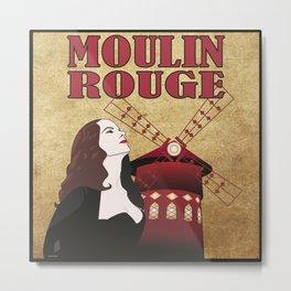 Le Moulin Metal Print