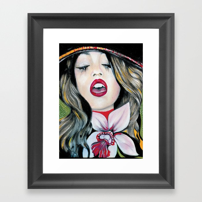 Bohemian Girl Framed Art Print