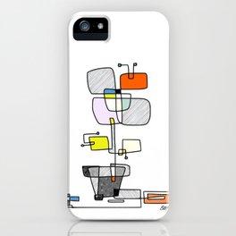 """Les Fleurs Du Mal - 1"" Modern Artwork (2018) iPhone Case"